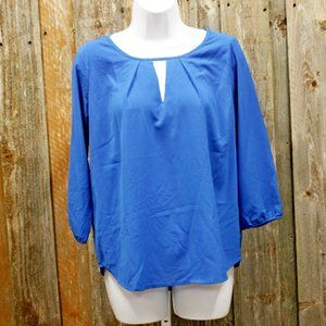 Paper Moon Stitch Fix Royal Blue Blouse SMALL NWOT